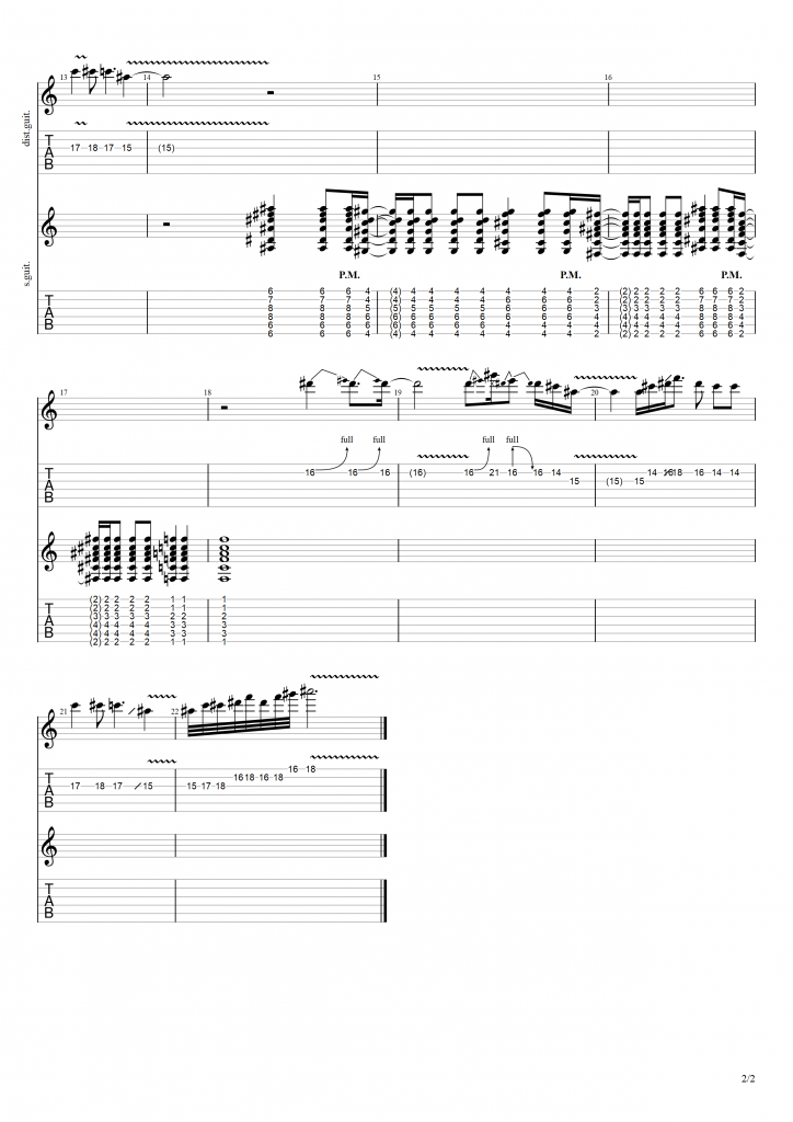 Image with tabs for the song, page 2