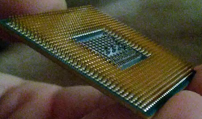 еще одна фотография с ножками процессора